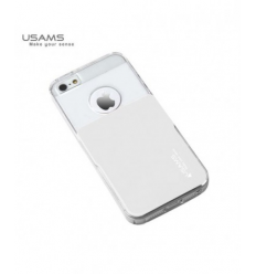 Husa Usams Smart Series Apple Iphone 5, 5S, 5SE Alba