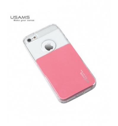 Husa Usams Smart Series Apple Iphone 5, 5S, 5SE Roz