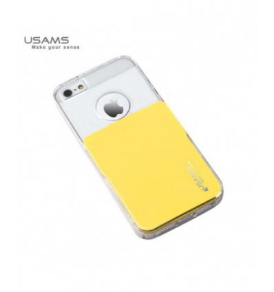 Husa Usams Smart Series Apple Iphone 5, 5S, 5SE Galben