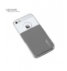 Husa Usams Smart Series Apple Iphone 5, 5S, 5SE Gri Metal