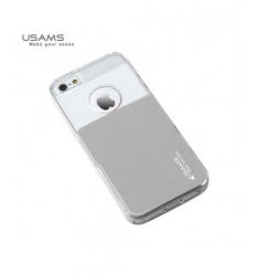 Husa Usams Smart Series Apple Iphone 5, 5S, 5SE Argintie