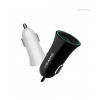 Incarcator Auto Usams 2 in 1 2.1 mAh US- CC013 Alb cu cablu micro+adaptor Apple iPhone